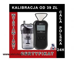 kalibracja alkomatu | alkohit X60 | adiustacja  PROMIL-LAB