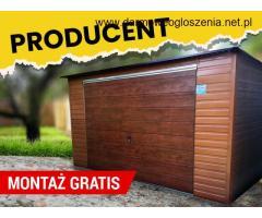 Garaż drewnopodobny 4x6 garaże blaszane wiaty hale bramy