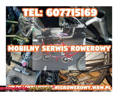 Mobilny serwis rowerowy, pogotowie rowerowe - Konstancin Józefosław Warszawa Grójec