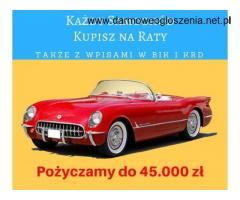 Pożyczka bez BIK i KRD na zakup samochodu lub pod zastaw
