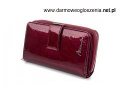 Średnie portfele damskie skórzane